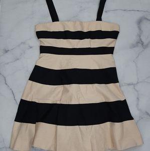 Jaeger Block Striped Flare Dress Size 18